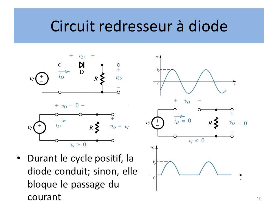 Circuit redresseur à diode