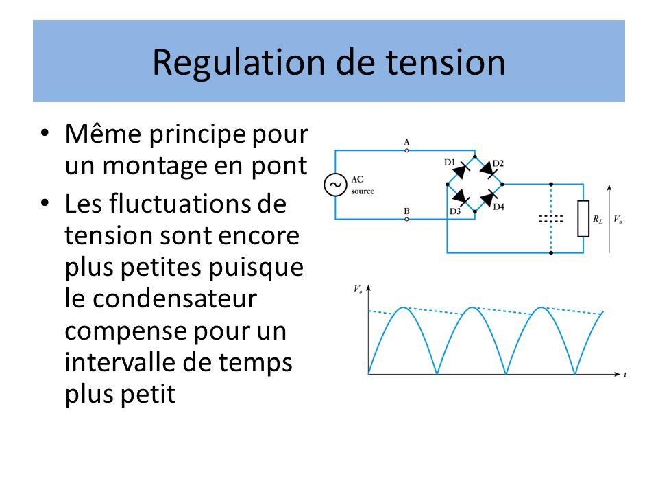 Regulation de tension Même principe pour un montage en pont