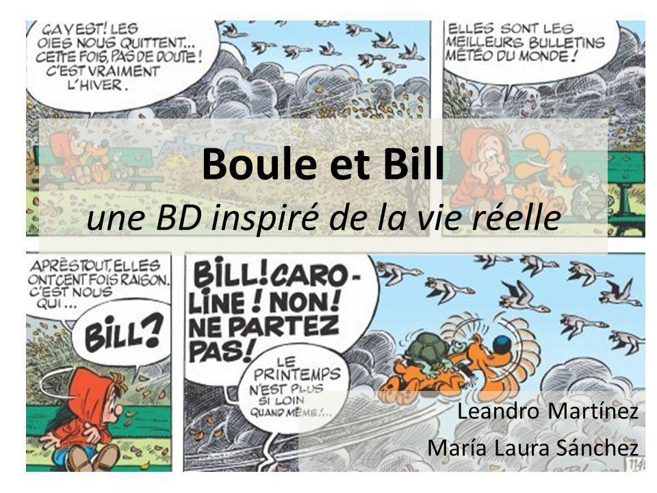 Boule et Bill une BD inspiré de la vie réelle