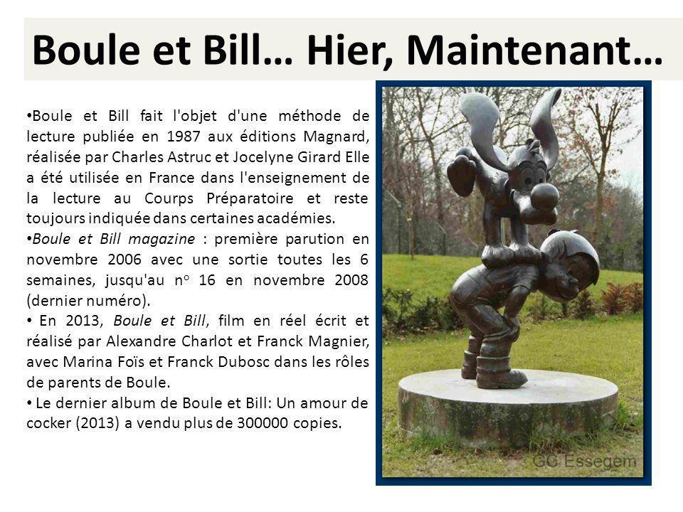 Boule et Bill… Hier, Maintenant…