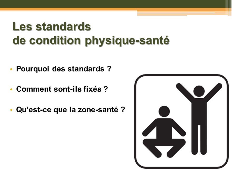 Les standards de condition physique-santé
