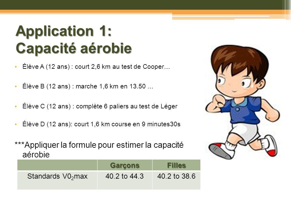 Application 1: Capacité aérobie