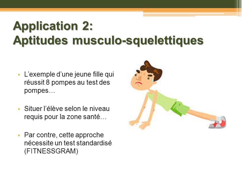 Application 2: Aptitudes musculo-squelettiques
