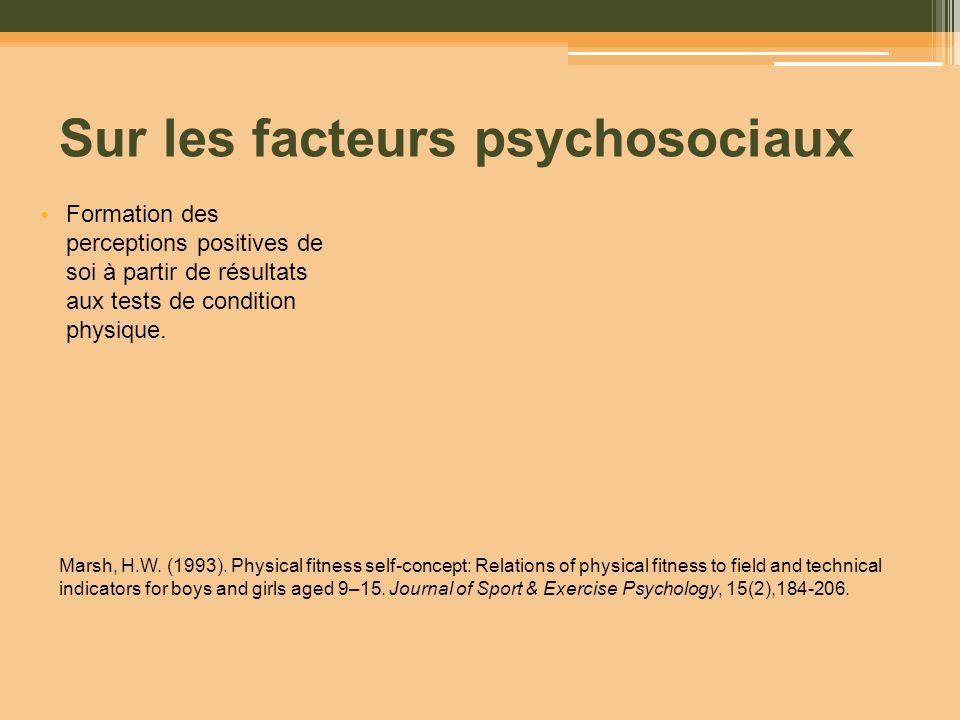 Sur les facteurs psychosociaux