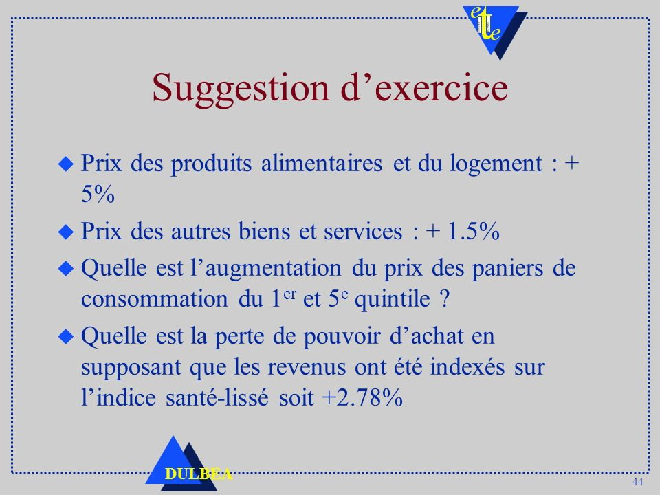 Suggestion d'exercice