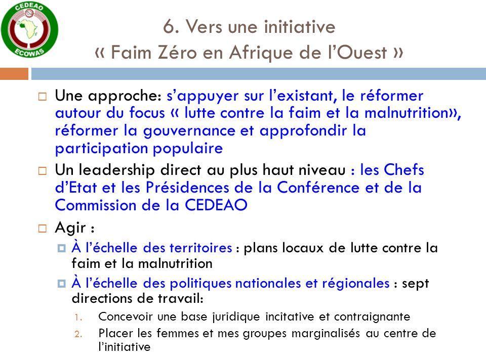 6. Vers une initiative « Faim Zéro en Afrique de l'Ouest »