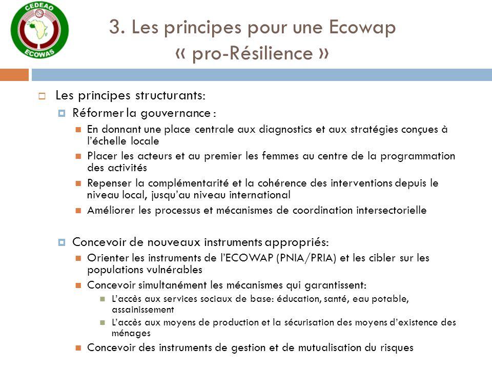 3. Les principes pour une Ecowap « pro-Résilience »