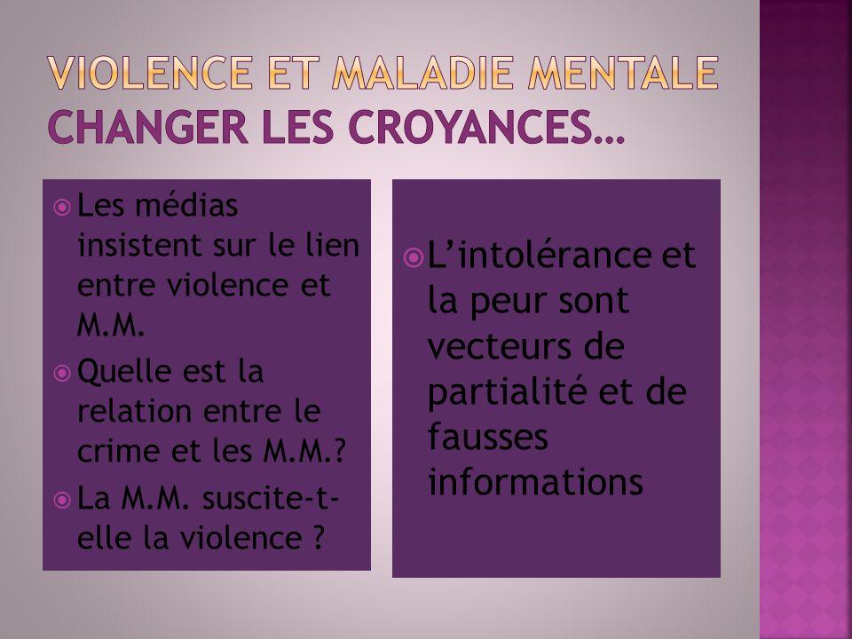 Violence et maladie mentale changer les croyances…