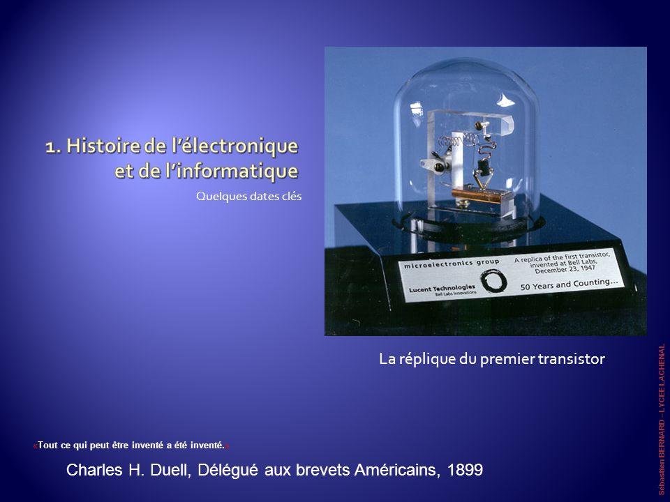 1. Histoire de l'électronique et de l'informatique