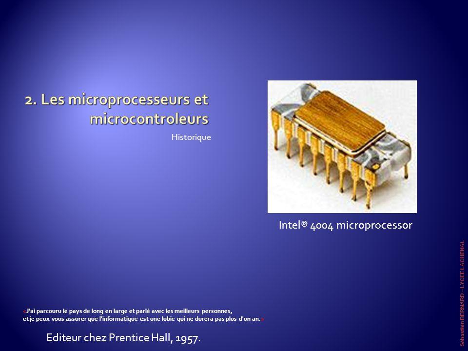 2. Les microprocesseurs et microcontroleurs