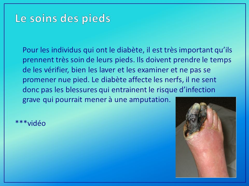 Le soins des pieds