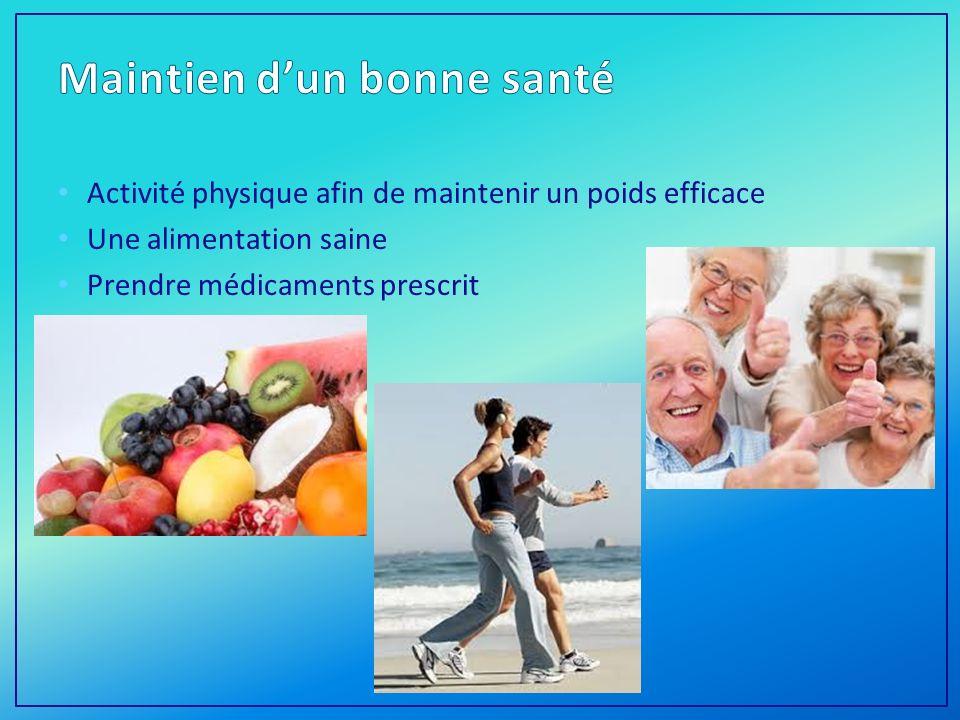 Maintien d'un bonne santé