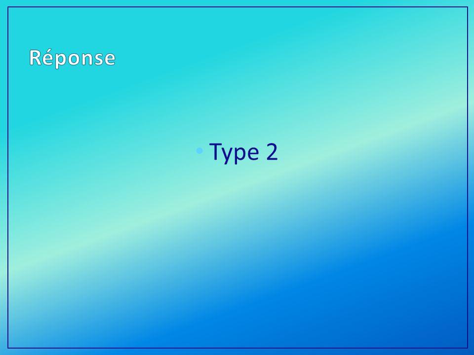 Réponse Type 2