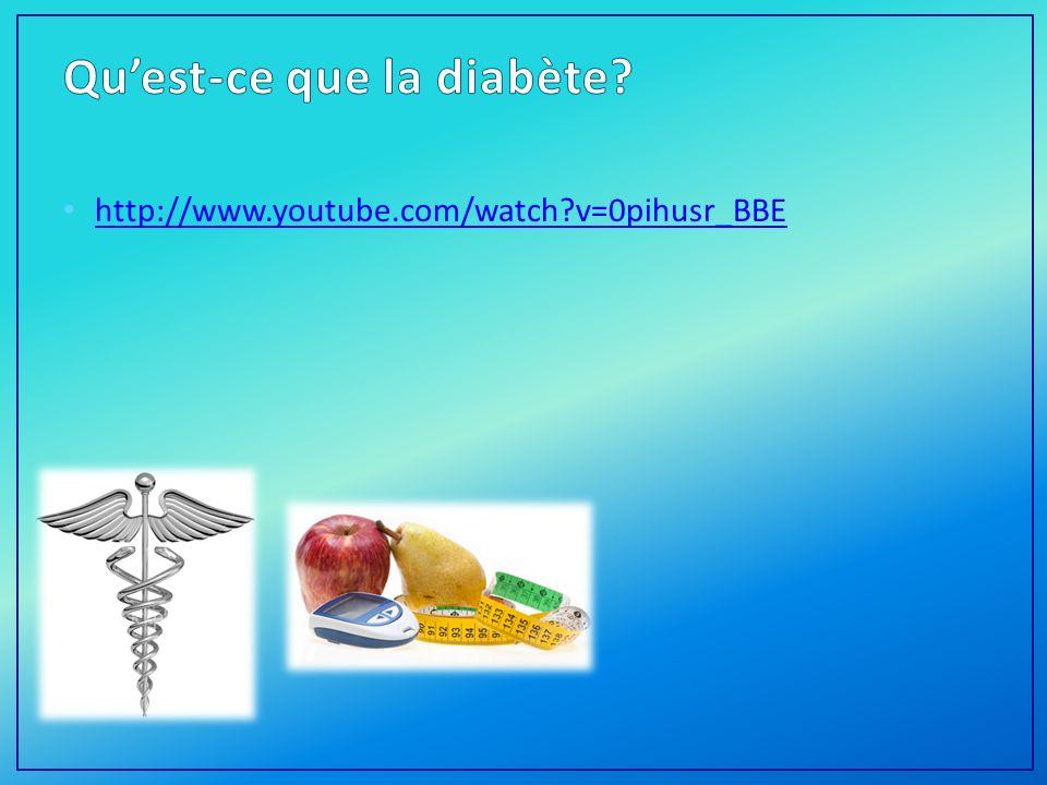 Qu'est-ce que la diabète
