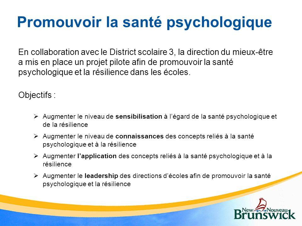 Promouvoir la santé psychologique
