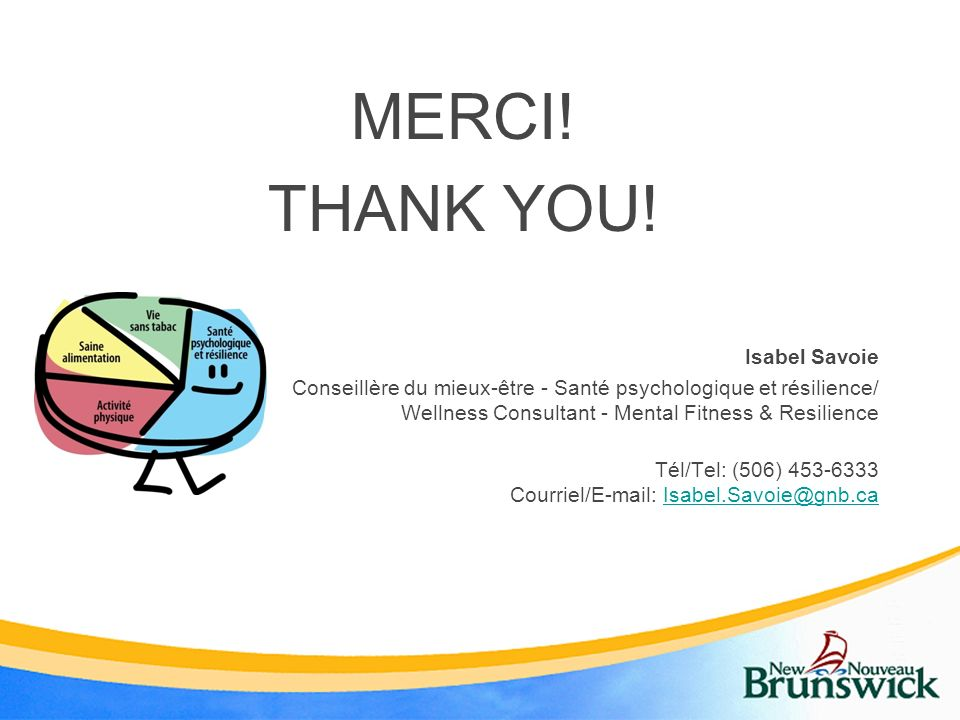 MERCI! THANK YOU! Isabel Savoie