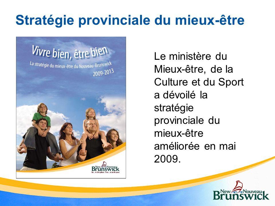 Stratégie provinciale du mieux-être