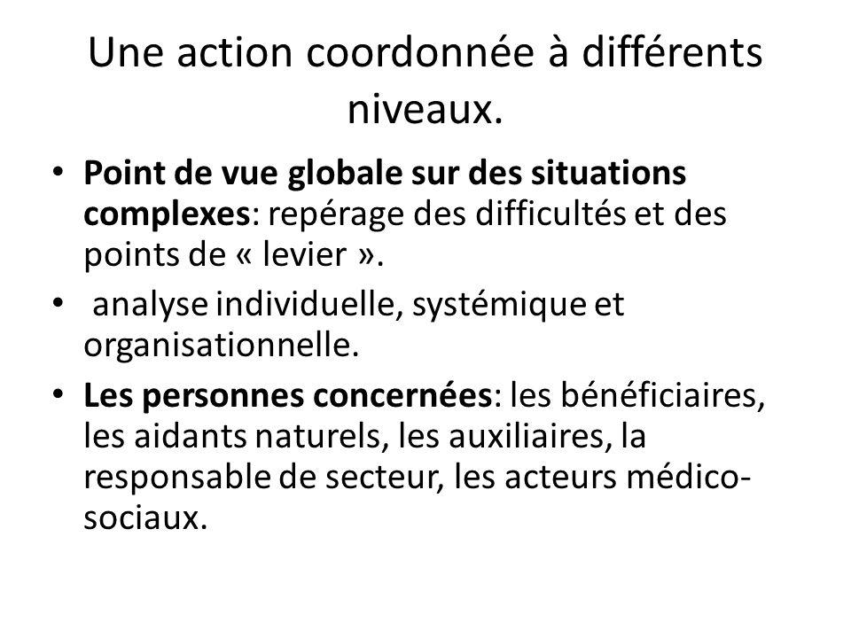 Une action coordonnée à différents niveaux.