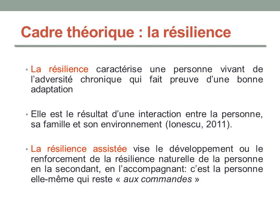 Cadre théorique : la résilience