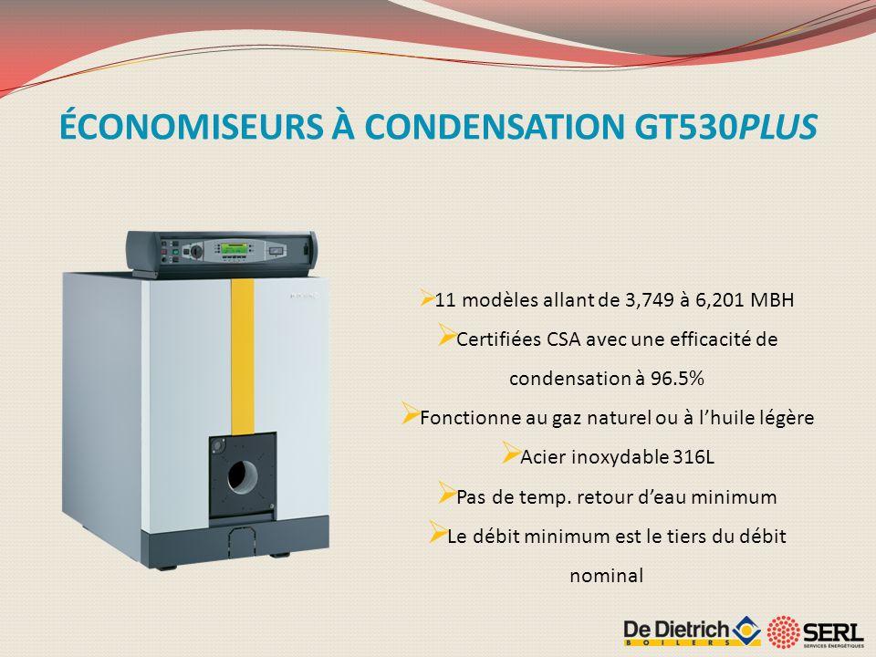 ÉCONOMISEURS À CONDENSATION GT530PLUS