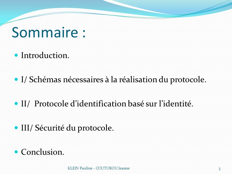 Sommaire : Introduction.