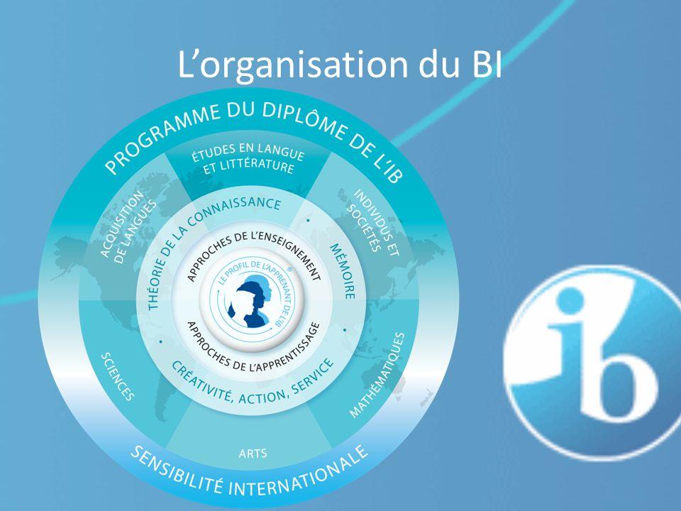L'organisation du BI