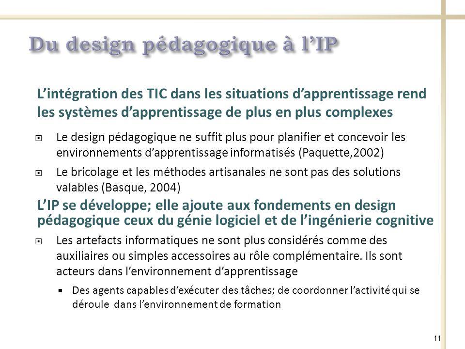 Du design pédagogique à l'IP