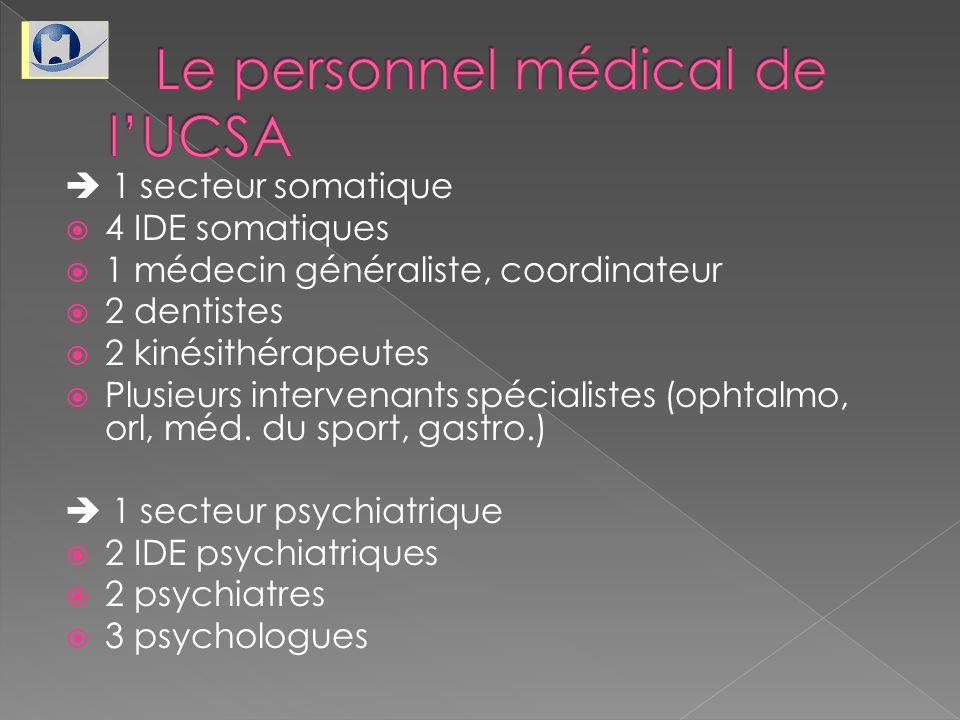 Le personnel médical de l'UCSA