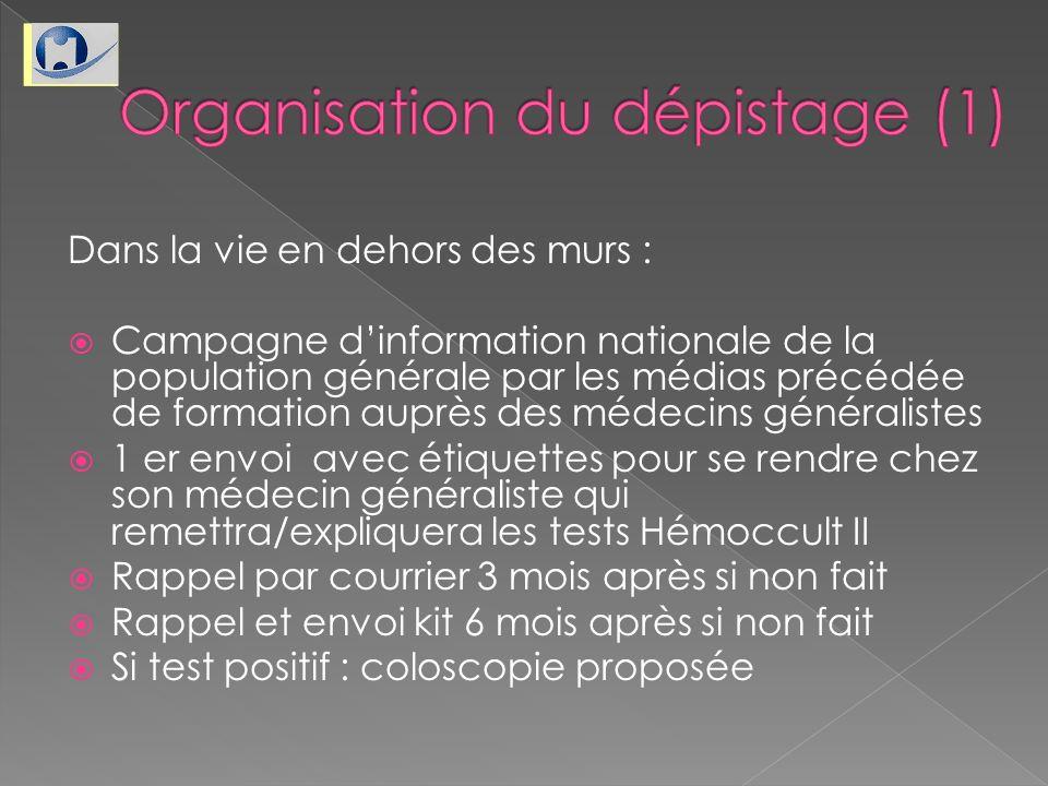 Organisation du dépistage (1)