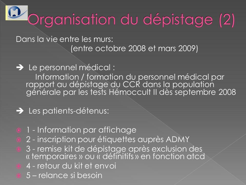 Organisation du dépistage (2)