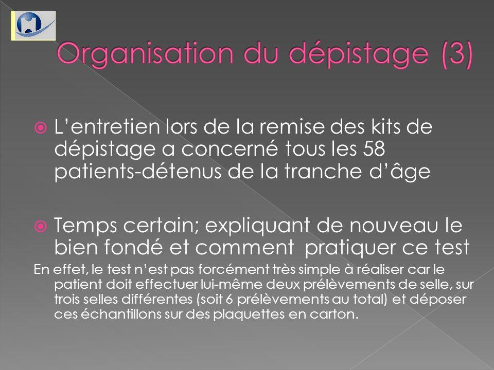 Organisation du dépistage (3)