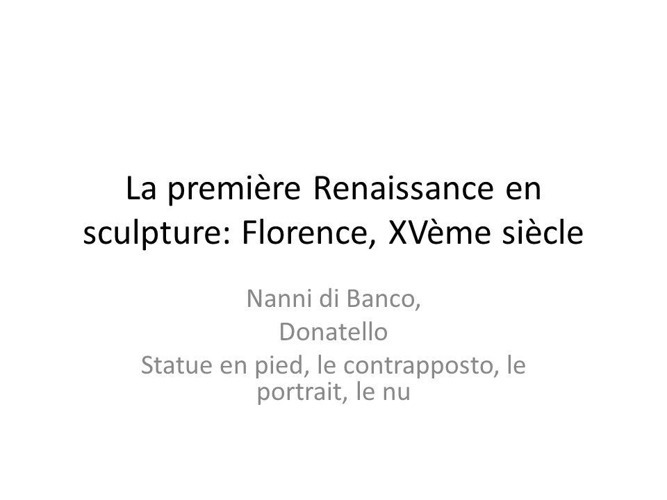 La première Renaissance en sculpture: Florence, XVème siècle