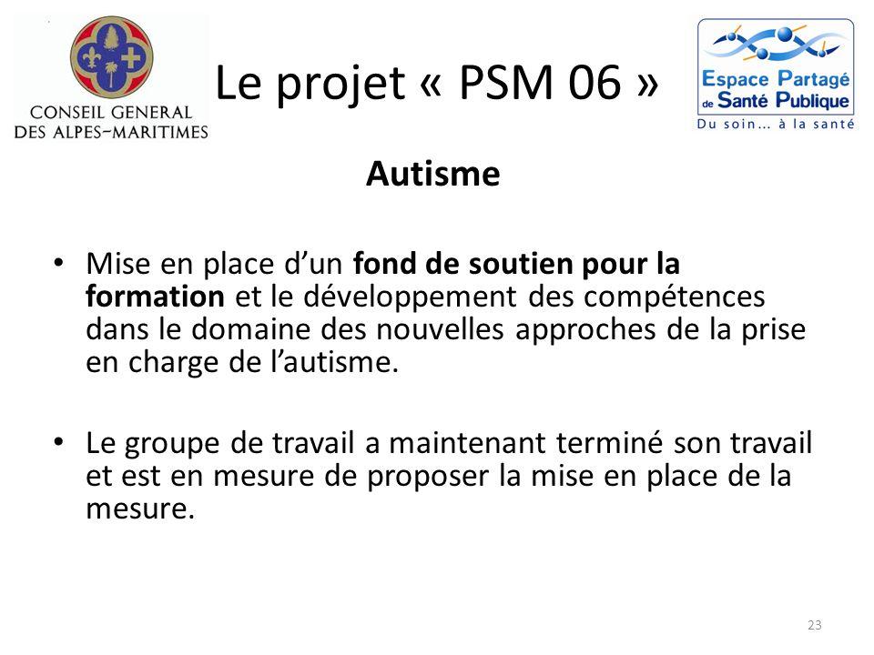 Le projet « PSM 06 » Autisme