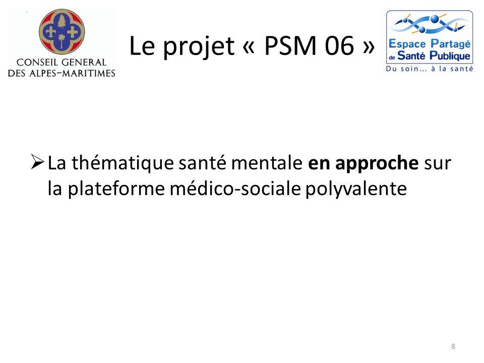 Le projet « PSM 06 » La thématique santé mentale en approche sur la plateforme médico-sociale polyvalente.