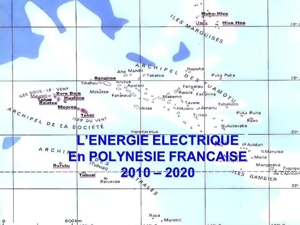 L'ENERGIE ELECTRIQUE En POLYNESIE FRANCAISE 2010 – 2020