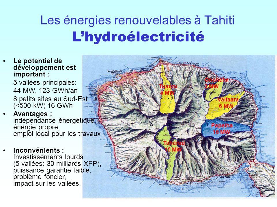 Les énergies renouvelables à Tahiti