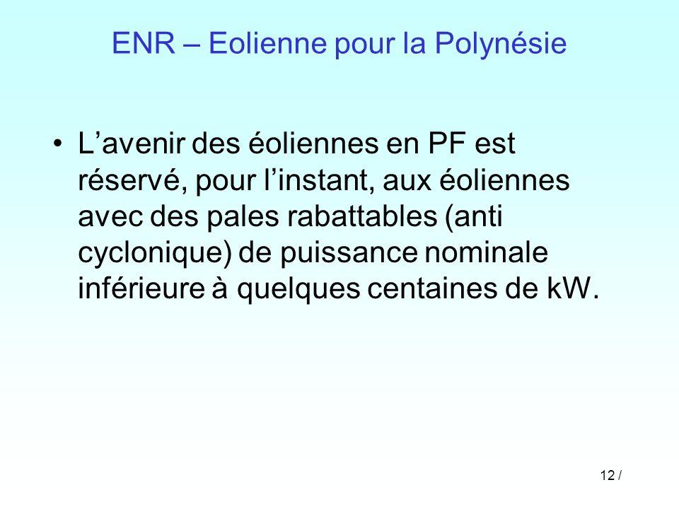 ENR – Eolienne pour la Polynésie