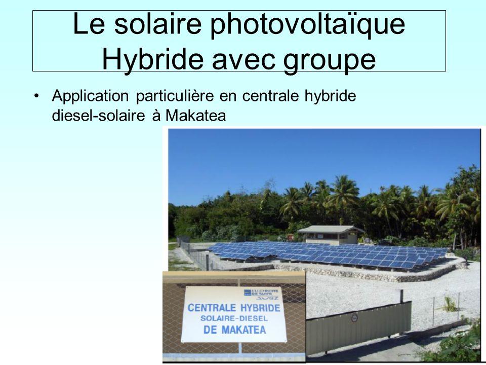 Le solaire photovoltaïque Hybride avec groupe