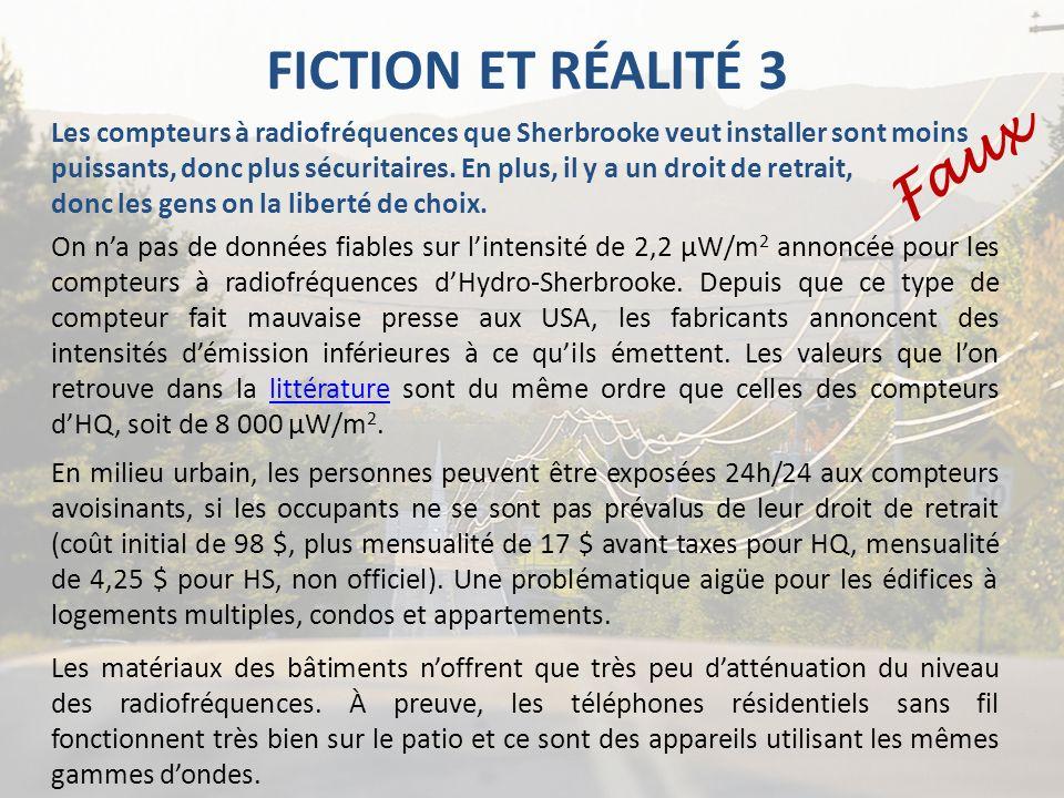 FICTION ET RÉALITÉ 3 Faux