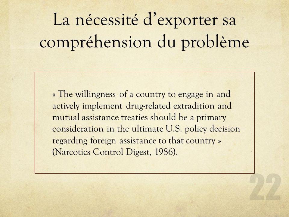La nécessité d'exporter sa compréhension du problème