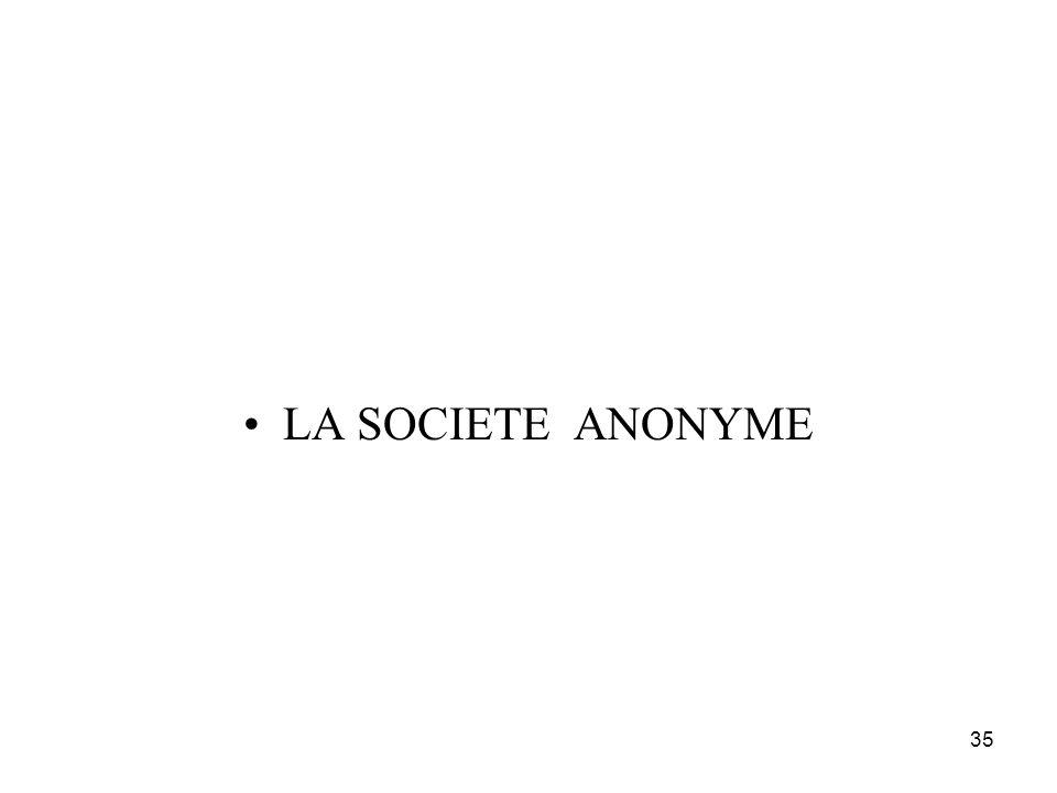 LA SOCIETE ANONYME