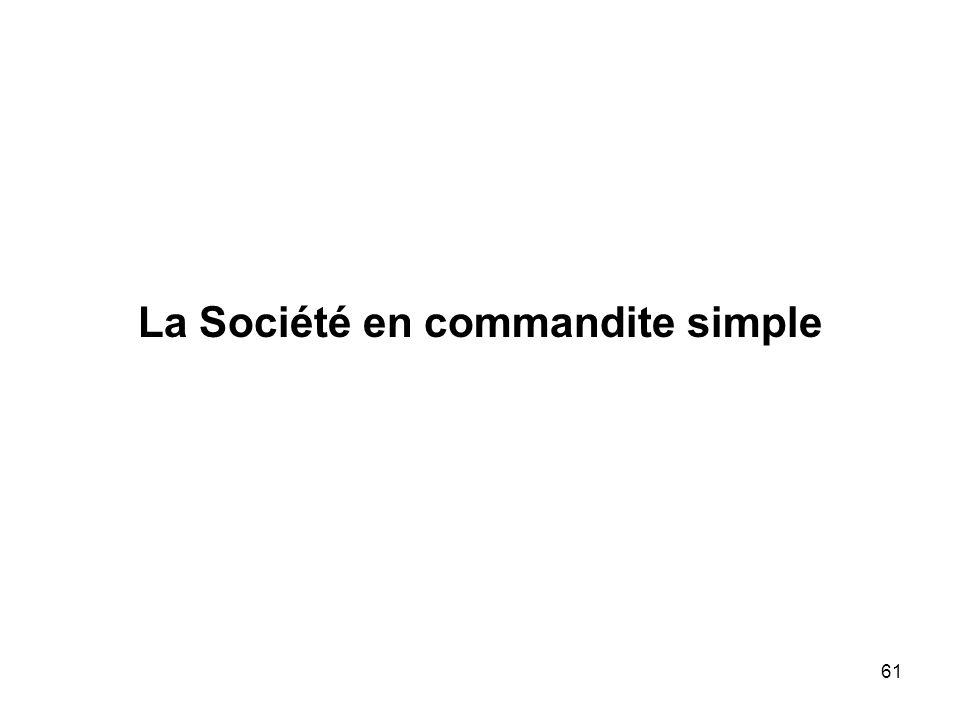 La Société en commandite simple