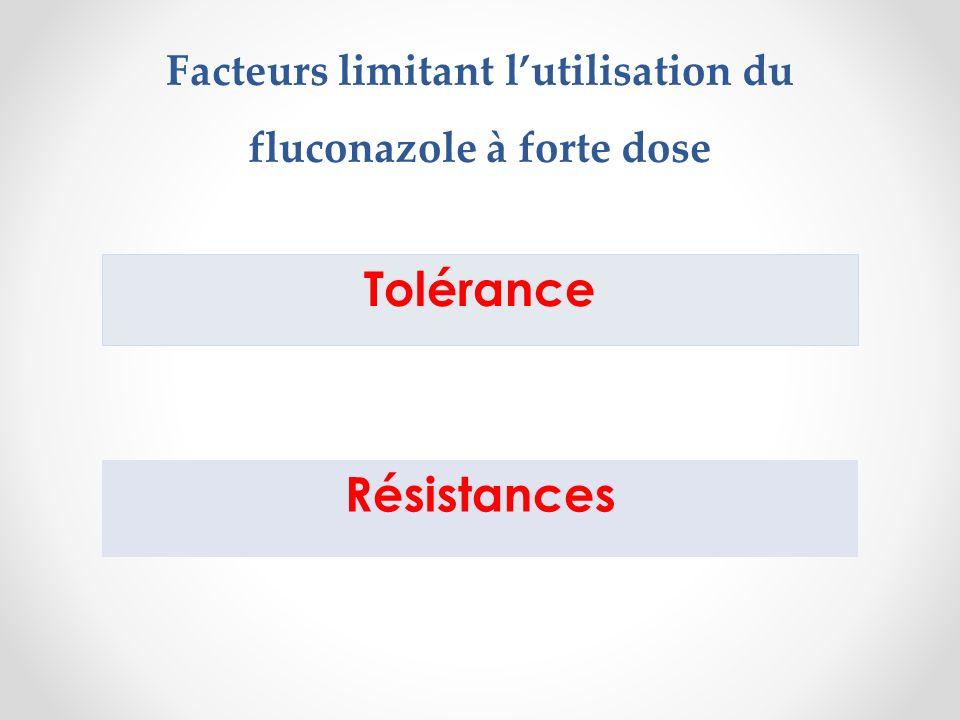Facteurs limitant l'utilisation du fluconazole à forte dose