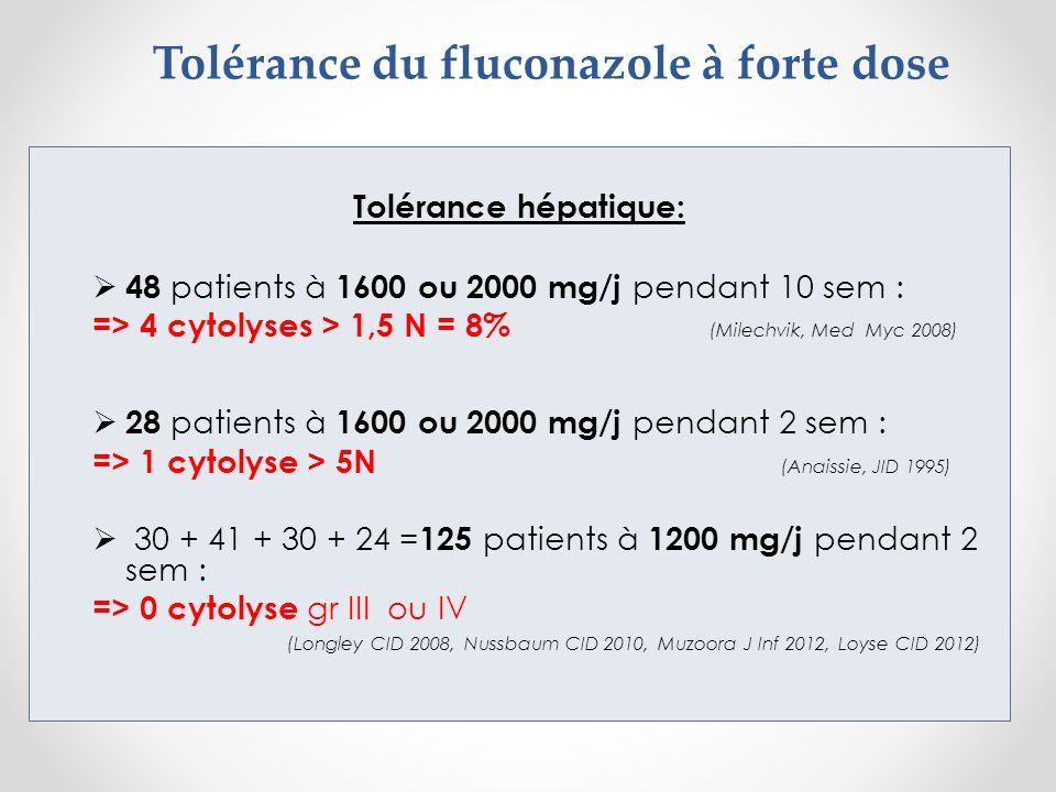 Tolérance du fluconazole à forte dose