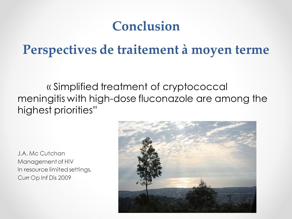 Conclusion Perspectives de traitement à moyen terme