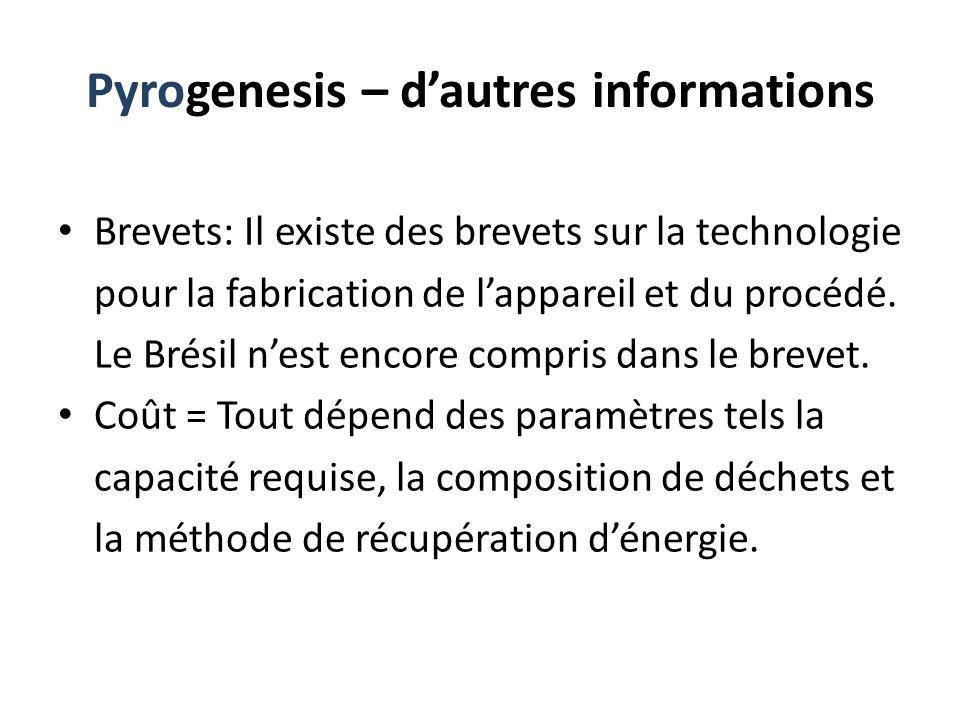 Pyrogenesis – d'autres informations