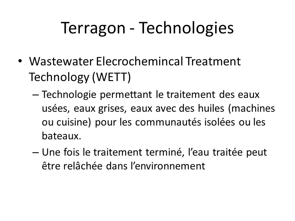 Terragon - Technologies