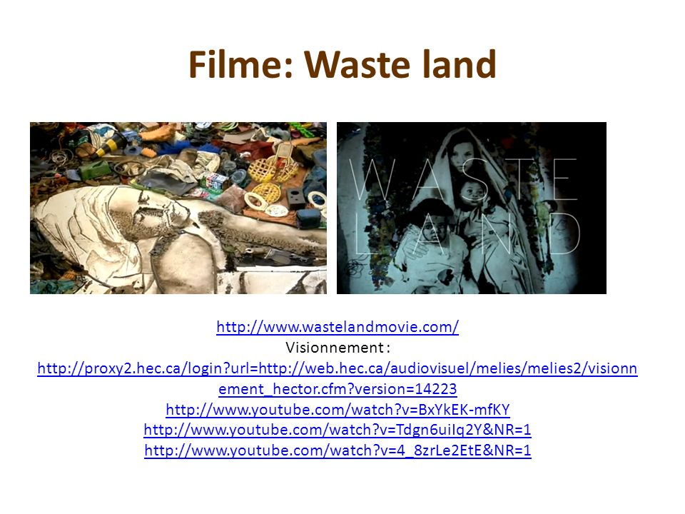 Filme: Waste land http://www.wastelandmovie.com/