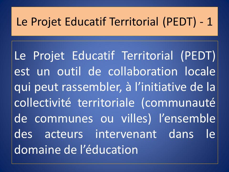Le Projet Educatif Territorial (PEDT) - 1
