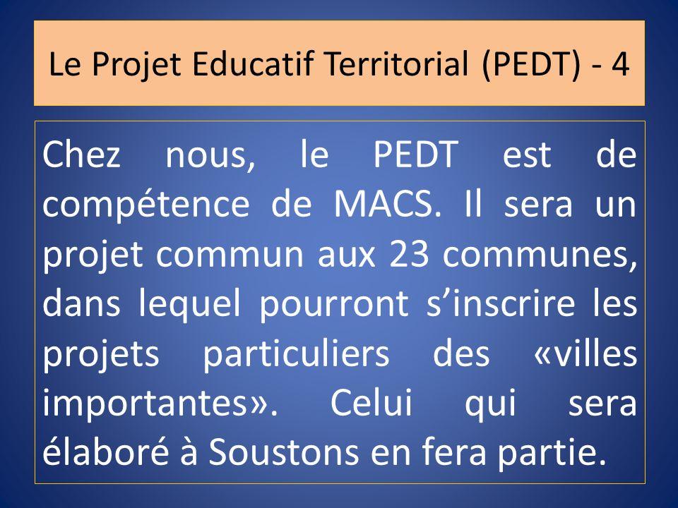 Le Projet Educatif Territorial (PEDT) - 4